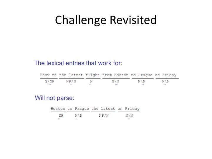 Challenge Revisited