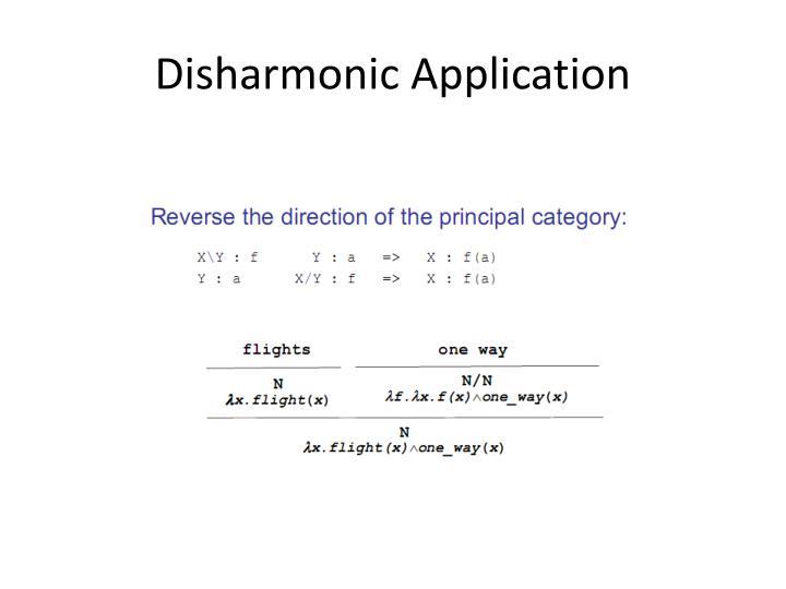 Disharmonic Application