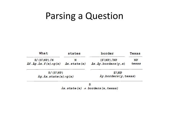 Parsing a Question