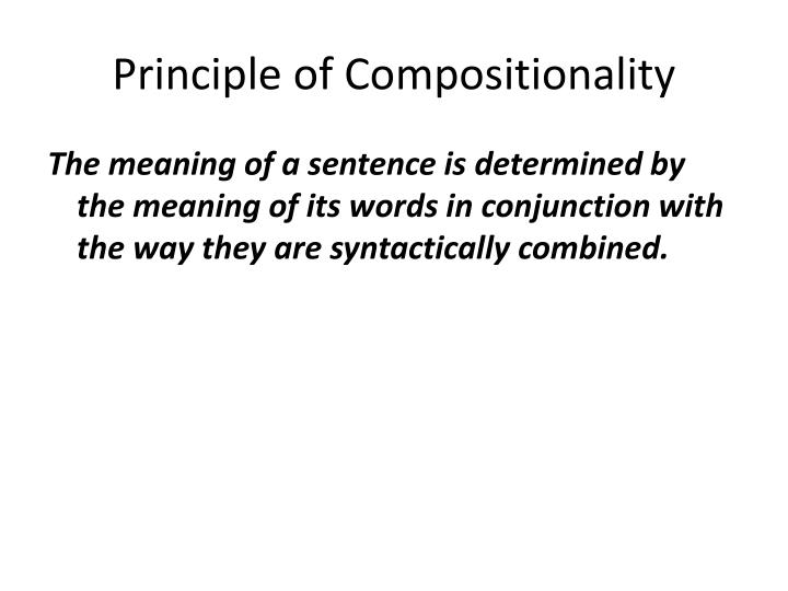 Principle of Compositionality