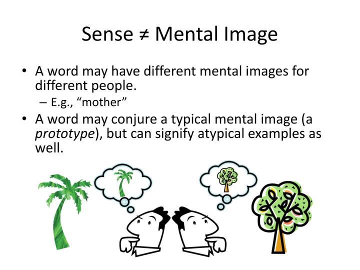Sense ≠ Mental Image