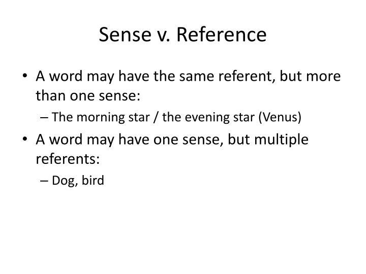 Sense v. Reference