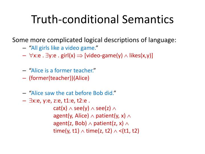 Truth-conditional Semantics