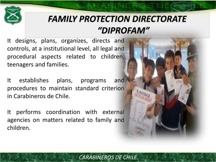 FAMILY PROTECTION DIRECTORATE DIPROFAM