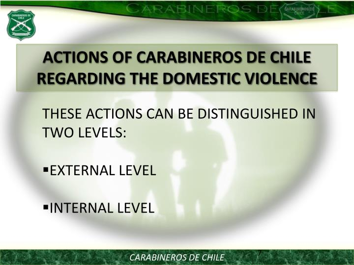 ACTIONS OF CARABINEROS DE CHILE REGARDING THE DOMESTIC VIOLENCE