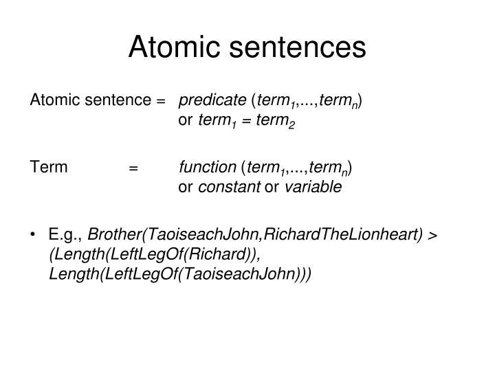 Atomic sentences