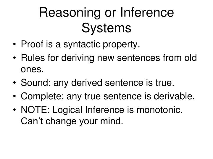 Reasoning or Inference Systems