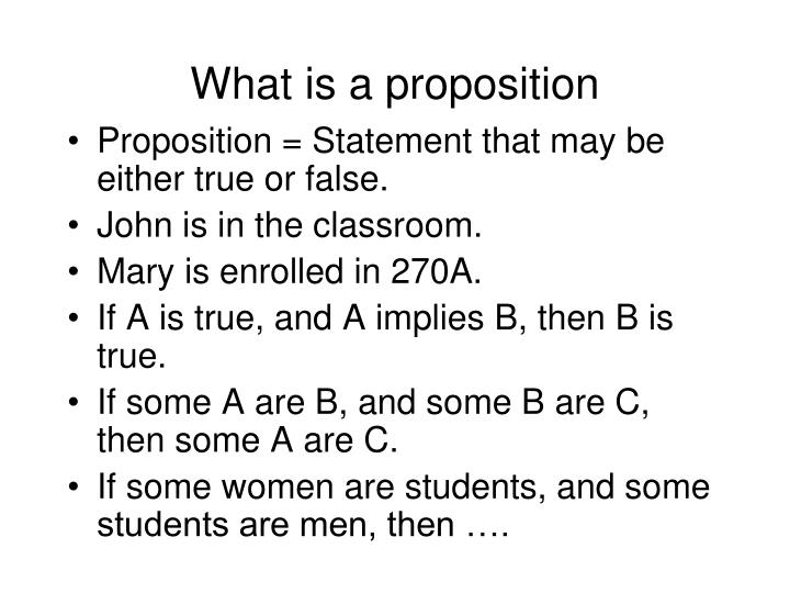 What is a proposition