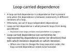 loop carried dependence