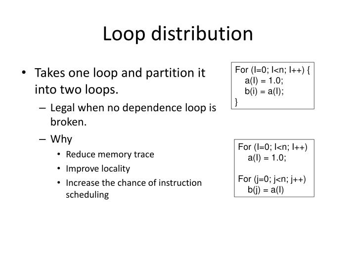 Loop distribution