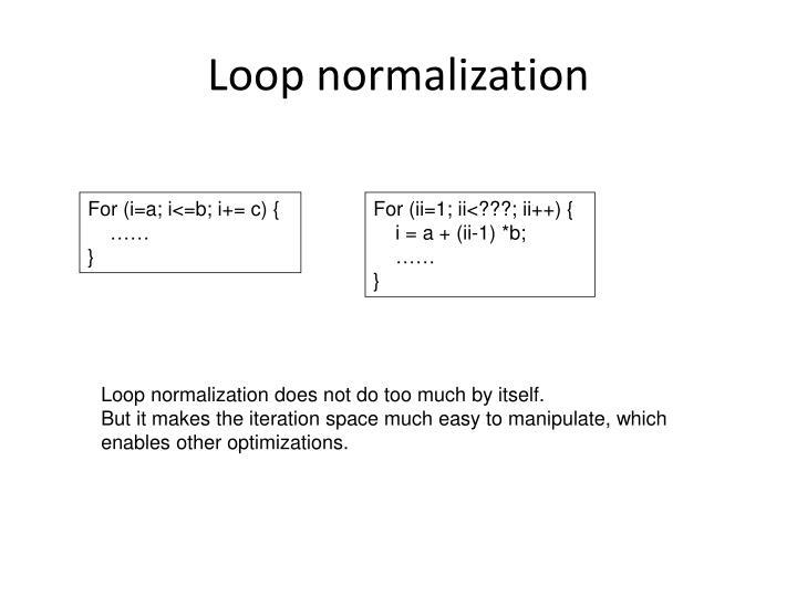 Loop normalization