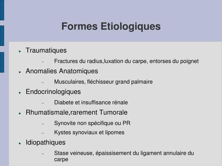 Formes Etiologiques