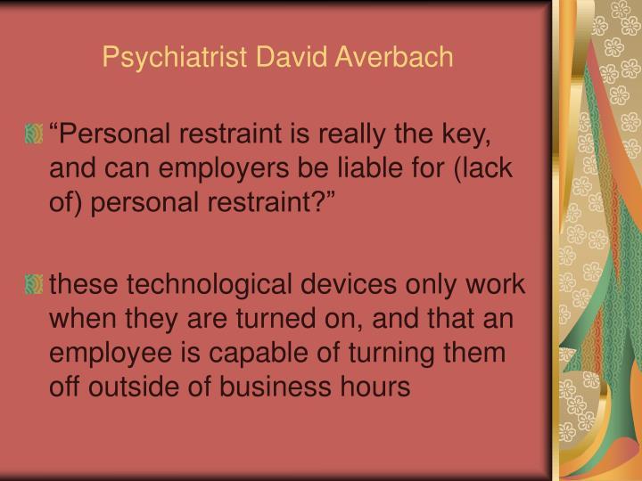 Psychiatrist David Averbach