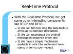 real time protocol