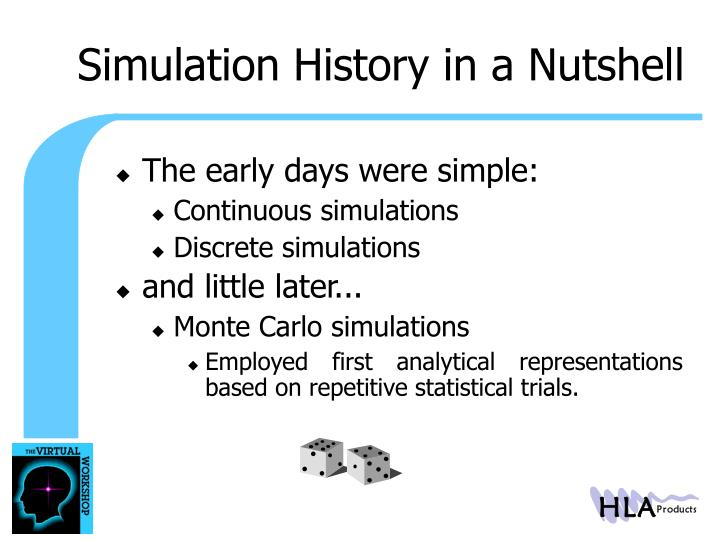 Simulation History in a Nutshell