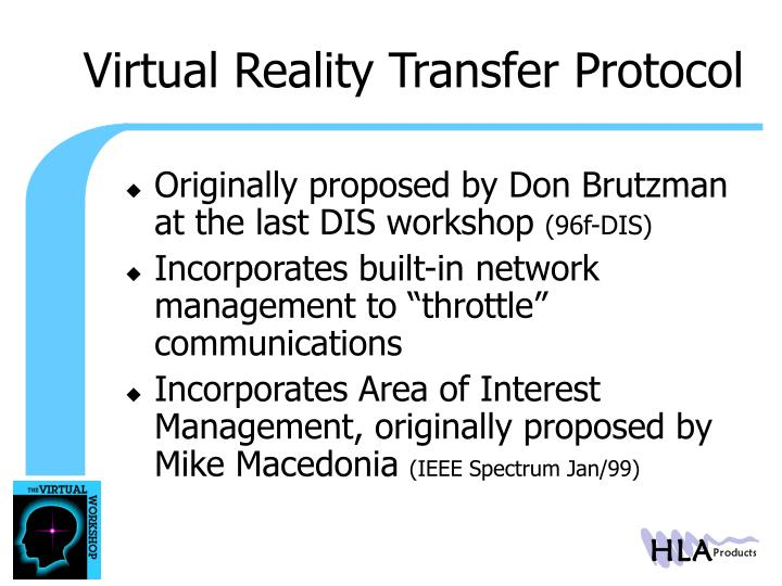 Virtual Reality Transfer Protocol