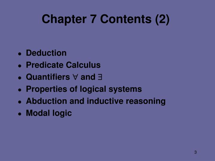 Chapter 7 contents 2