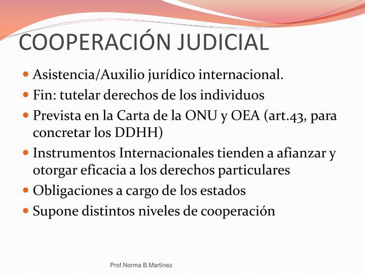 COOPERACIÓN JUDICIAL