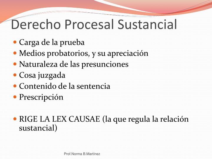 Derecho Procesal Sustancial