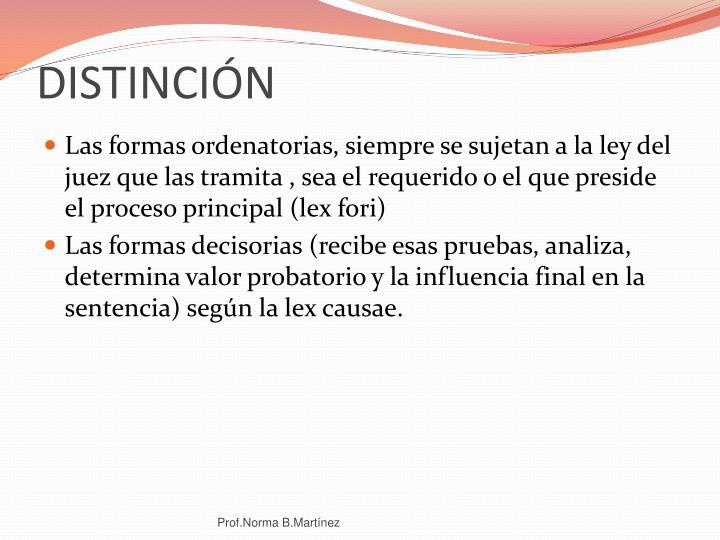 DISTINCIÓN