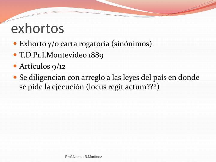 exhortos