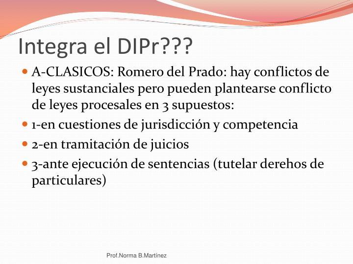 Integra el DIPr???
