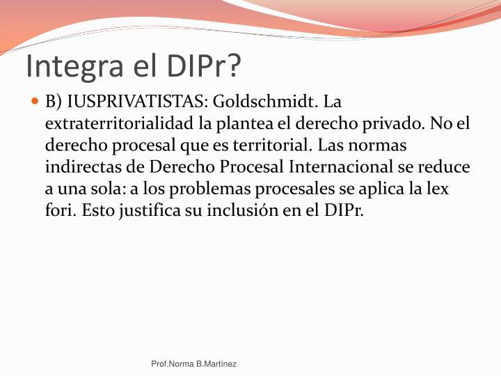 Integra el DIPr?