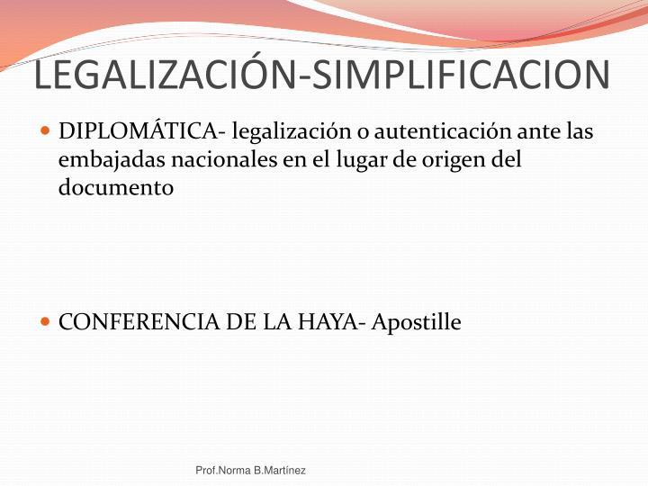 LEGALIZACIÓN-SIMPLIFICACION
