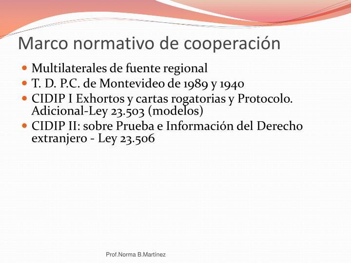 Marco normativo de cooperación