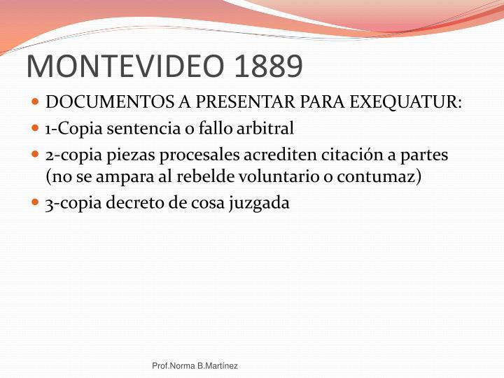 MONTEVIDEO 1889