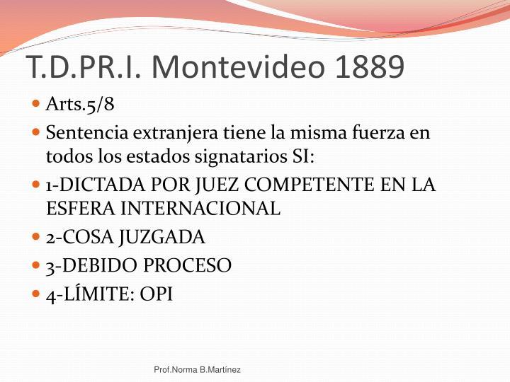 T.D.PR.I. Montevideo 1889