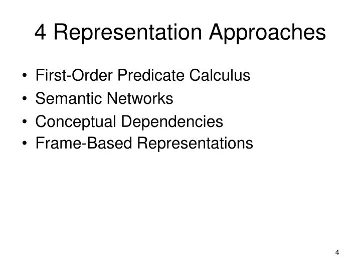 4 Representation Approaches