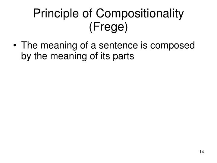 Principle of Compositionality (Frege)