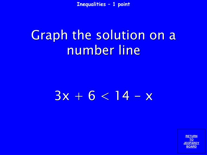 Inequalities – 1 point