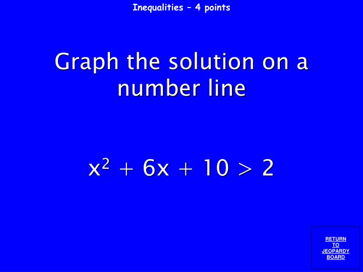 Inequalities – 4 points