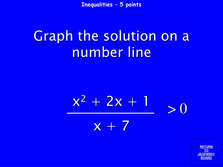 Inequalities – 5 points
