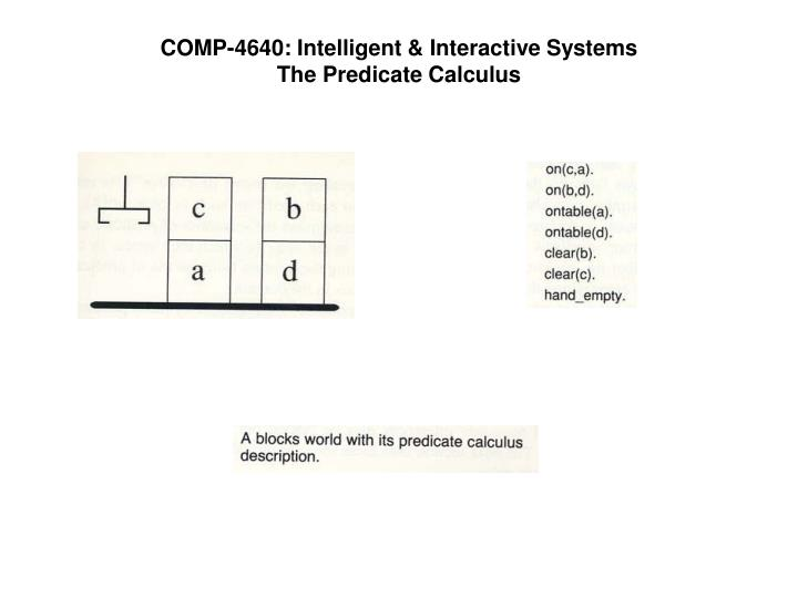 COMP-4640: Intelligent & Interactive Systems