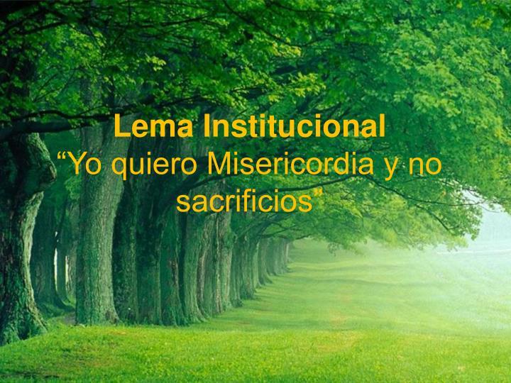 Lema Institucional