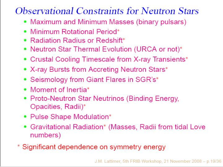 (7) Observational Constraints for Neutron Stars