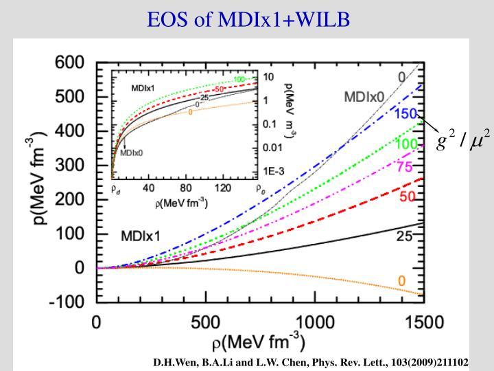 EOS of MDIx1+WILB