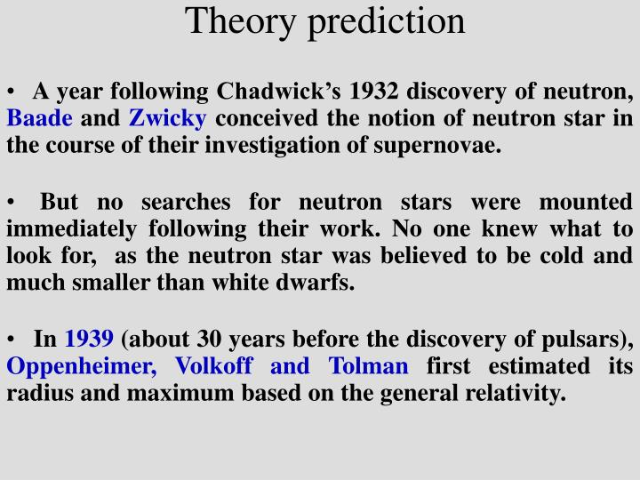 Theory prediction