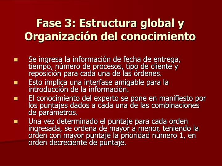 Fase 3: Estructura global y Organización del conocimiento