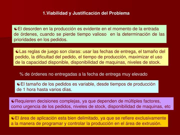 Viabilidad y Justificación del Problema
