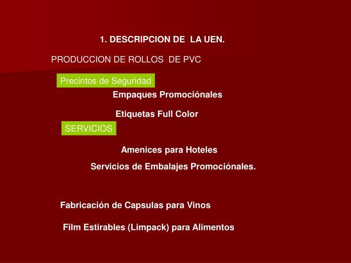 1. DESCRIPCION DE  LA UEN.
