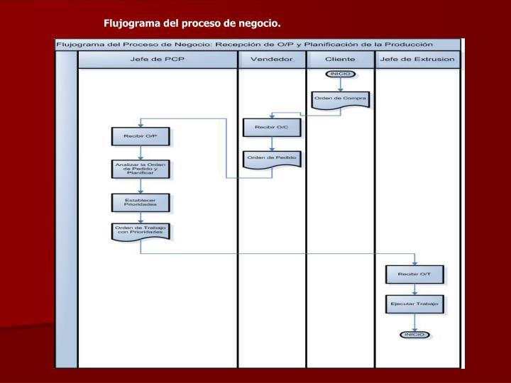 Flujograma del proceso de negocio.
