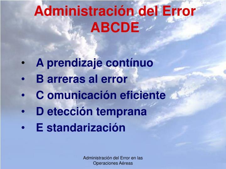 Administración del Error