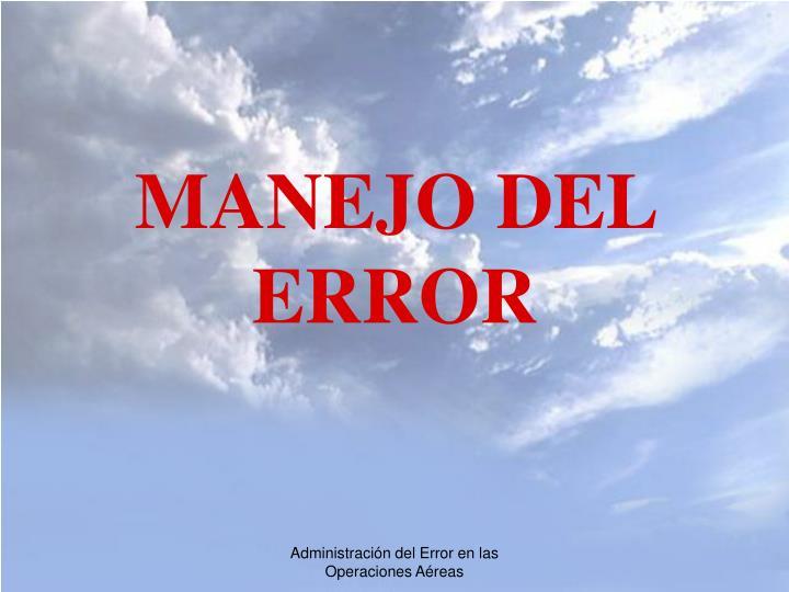 MANEJO DEL ERROR