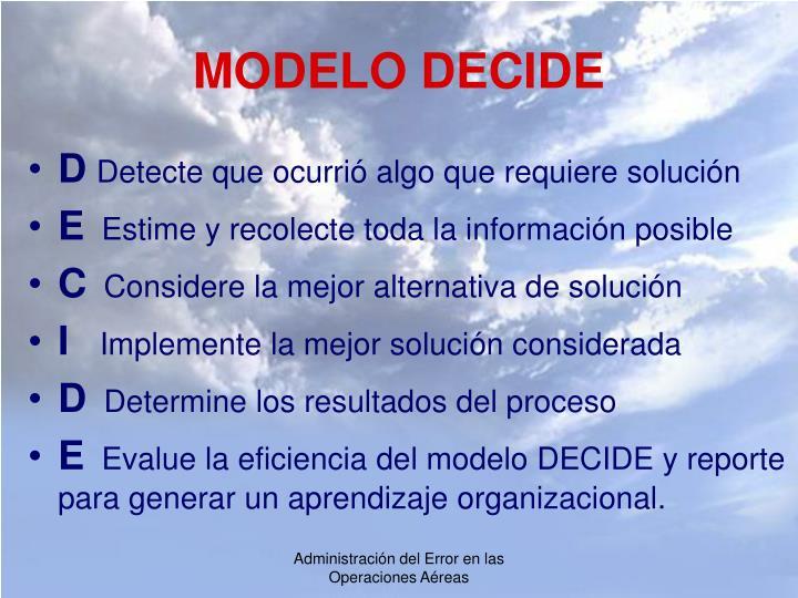 MODELO DECIDE