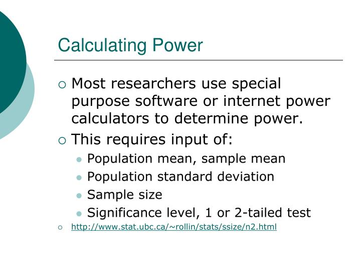 Calculating Power
