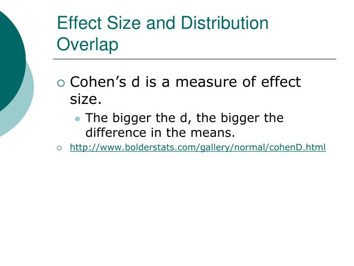 Effect Size and Distribution Overlap